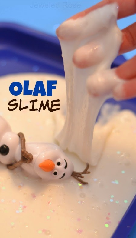 OLAF SLIME:  ICY cold, super stretchy, squishy, sparkly, & SO FUN!