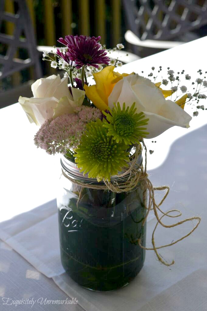 Easy Mason Jar Flowers From Your Yard