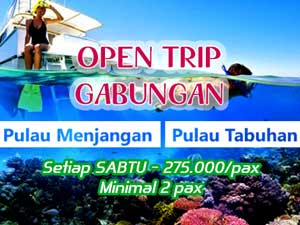 Open Trip Gabungan Pulau Menjangan Tabuhan