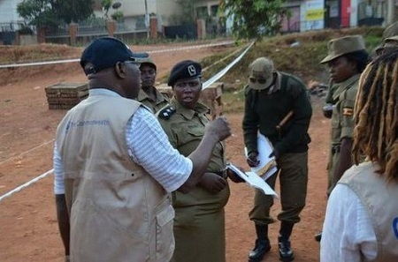 Read What Obasanjo Said About Buhari in Uganda as He Monitors Election (Photos)
