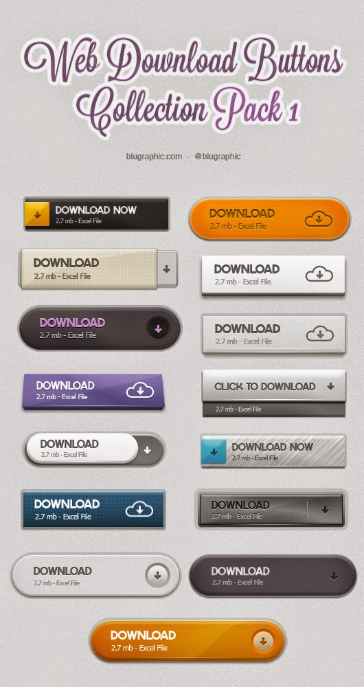 Web Download Psd Buttons