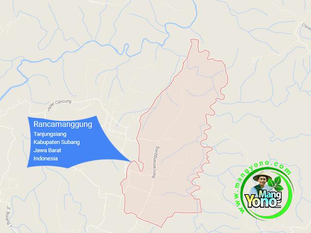PETA : Desa Rancamanggung, Kecamatan Tanjungsiang
