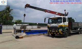 Lắp đặt trạm cân oto 60t Hoàng Thiên giá rẻ tại TPHCM