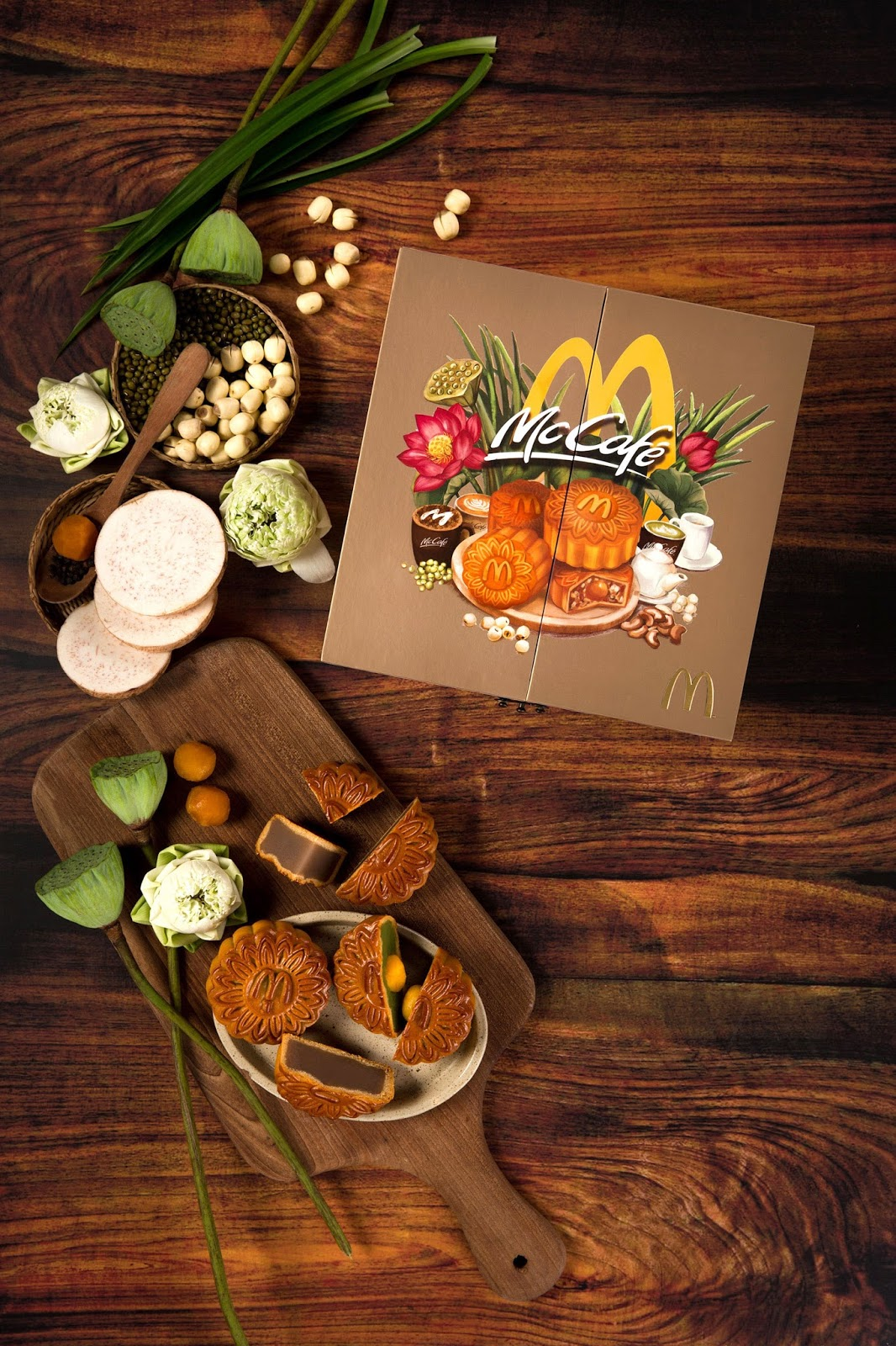 Mcdonald S Vietnam Mooncake Box 2017 On Packaging Of The