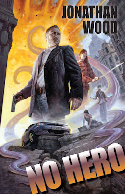 Review and Giveaway - No Hero by Jonathan Wood - 4 1/2 Qwills