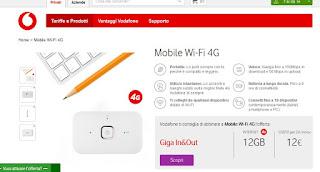 Sito Vodafone