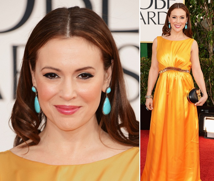 Alyssa Milano - Celebrity Earrings Trend 2013