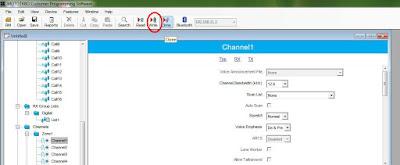 Write toolbar CPS program xir 3688