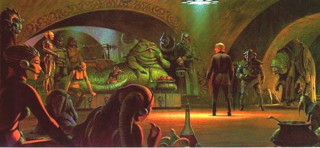 Luke at Jabba's Palace concept art