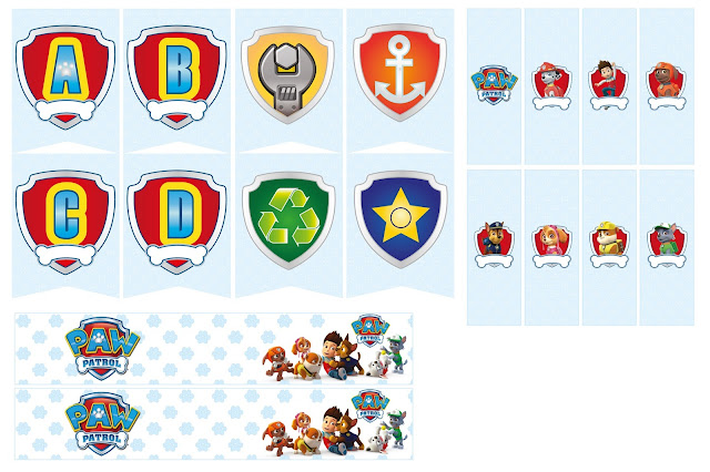 Paw Patrol Party Free Printable Kit.