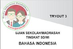 Soal  USBN SD 2018 Mapel Bahasa Indonesia Disertai Kunci Jawaban