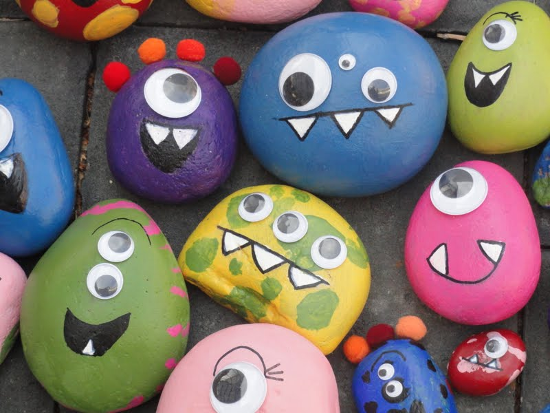 rock crafts ideas kayboo creations rock monsters 2845