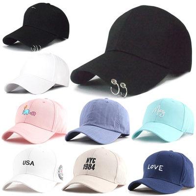 Korean Hot Style Piercing Ball Cap   Basic Ball Cap   Snapback   Baseball  Cap 283c8a527ab