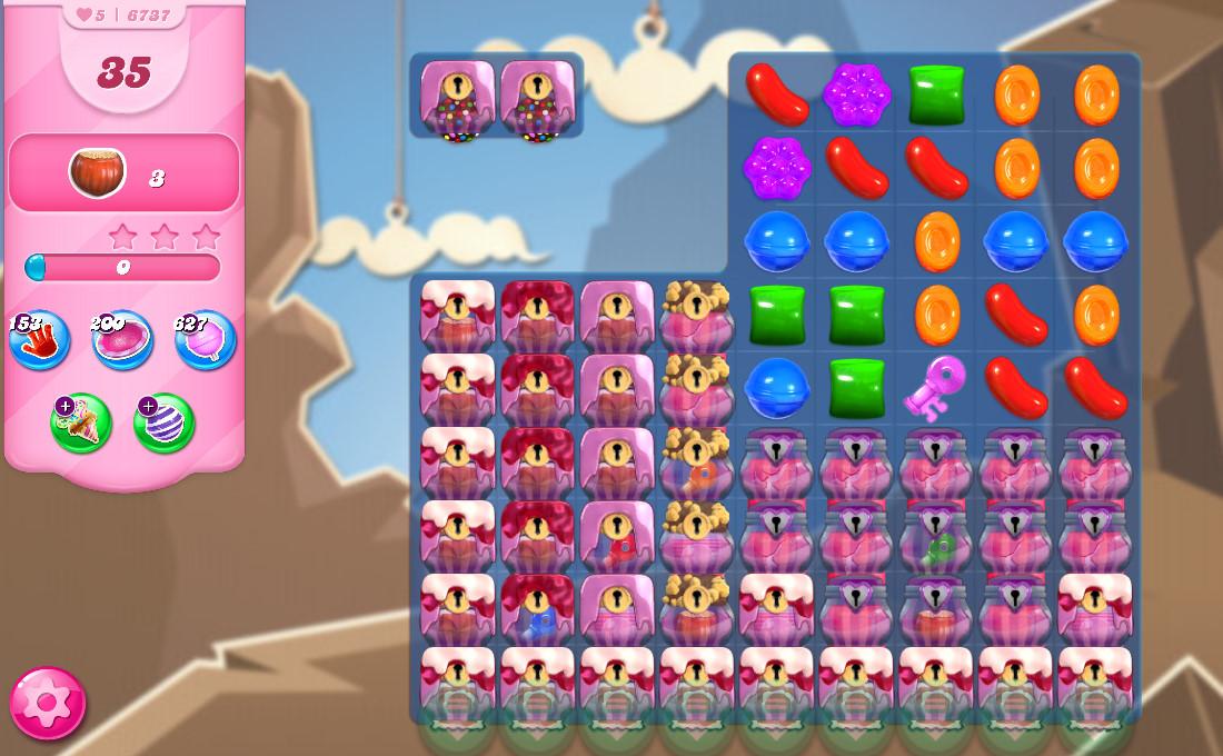 Candy Crush Saga level 6737