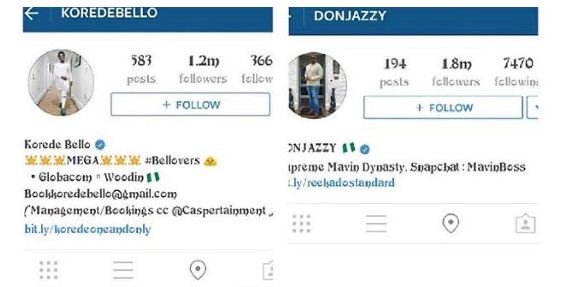 "2 Don Jazzy & Koredo Bello Block Instagram User For Telling Them To Wish D'banj ""Happy Birthday"" Entertainment"