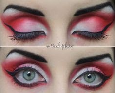 Happy Halloween Red Eye Make Up 2016