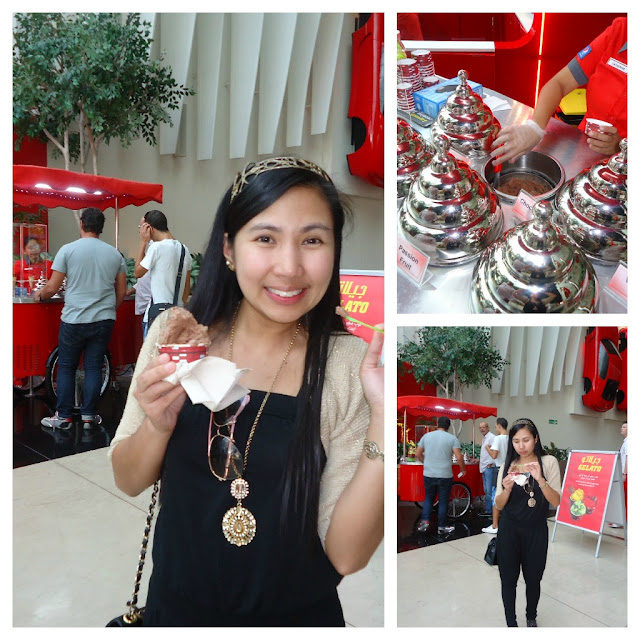 Gelato at Ferrari World, Yas Island Abu Dhabi