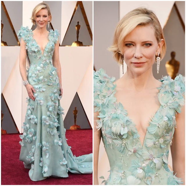 WHO WORE WHAT?.....88th Annual Academy Awards: Cate Blanchett in Armani Prive