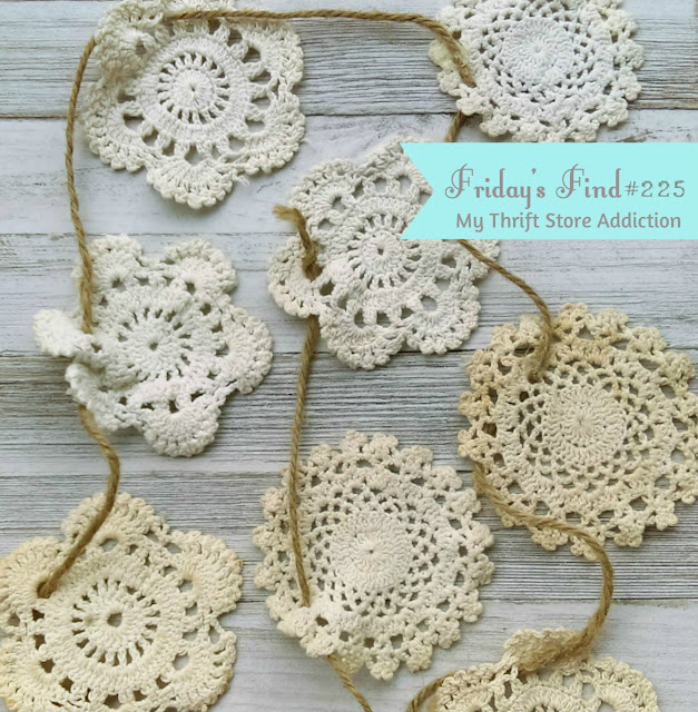 handmade doily garland
