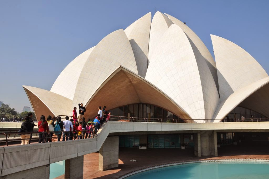 birthday party with sightseeing lotus temple in delhi