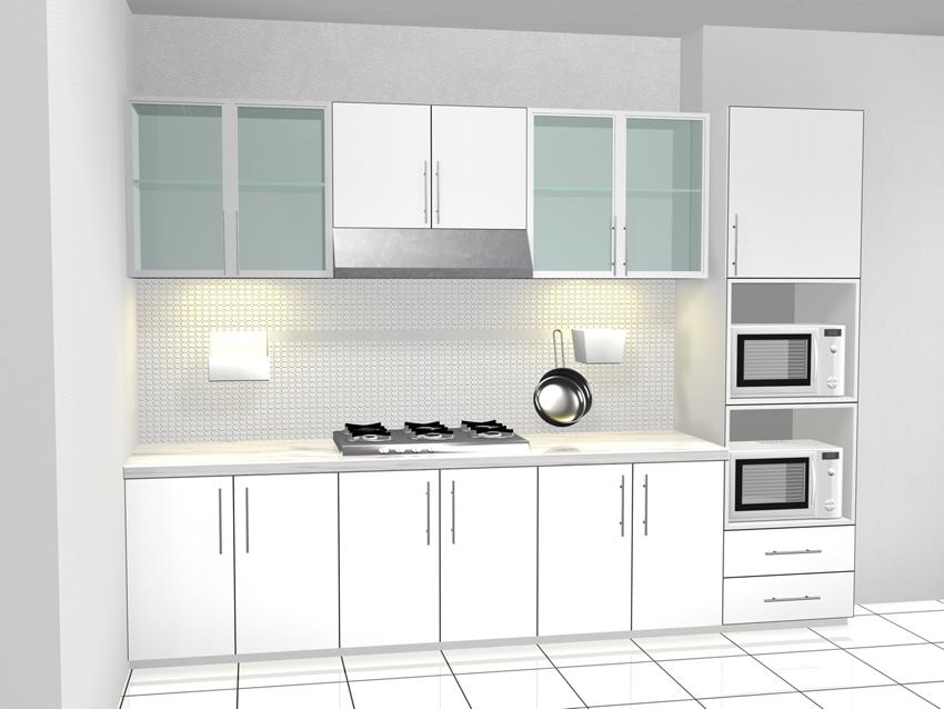 21 Kitchen Set Aluminium Putih Paling Top