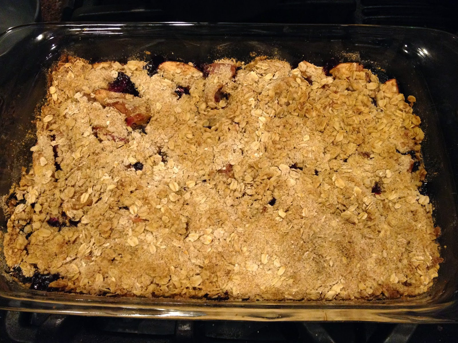 Easy fall recipe blueberry apple crisp