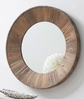 Espejo Redondo Madera Reciclada Artison