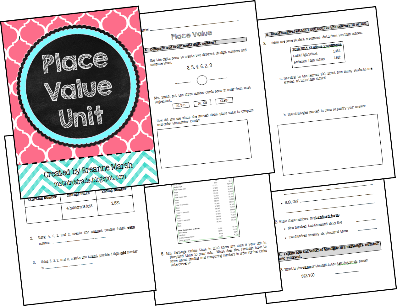 Ms Third Grade Place Value Unit