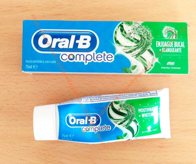 Oral-B Complete Enjuague Bucal + Blanqueante pasta dental