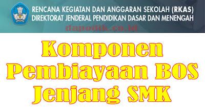 Komponen Pembiayaan BOS Jenjang SMK - Rencana Kegiatan Dan Anggaran Sekolah (RKAS) Dikdasmen Kemdikbud