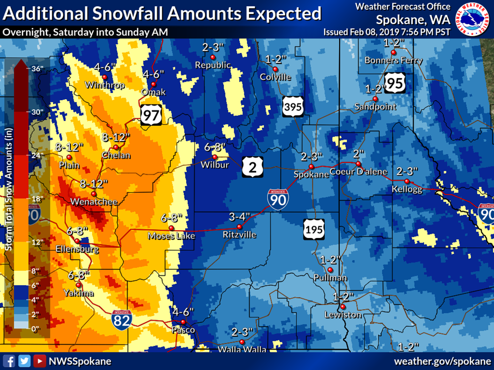 Inland Northwest Weather Blog: Storm update, more snow next