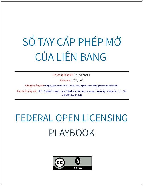 'Sổ tay cấp phép mở của Liên bang' - bản dịch sang tiếng Việt