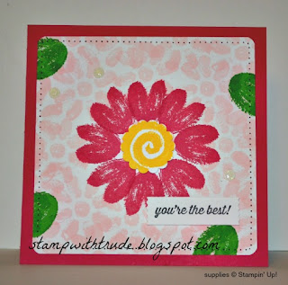 Painted Garden, Throwback Thursday, Stampin Up, Stamp with Trude, Trude Thoman, greeting card, floral