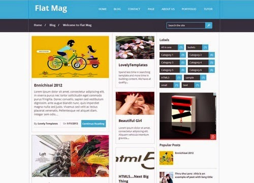 Download Flat Mag v1.2 Themeforest Blogger Template Free