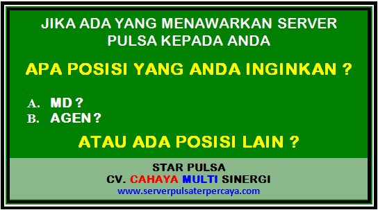 Cara Daftar MD di Server Star Pulsa