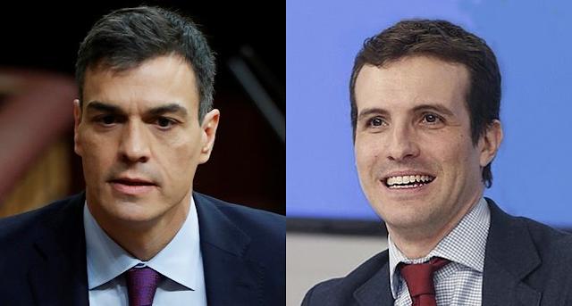 """Pablo Casado llama a Pedro Sánchez """"traidor"""" por mediar en el conflicto catalán"""