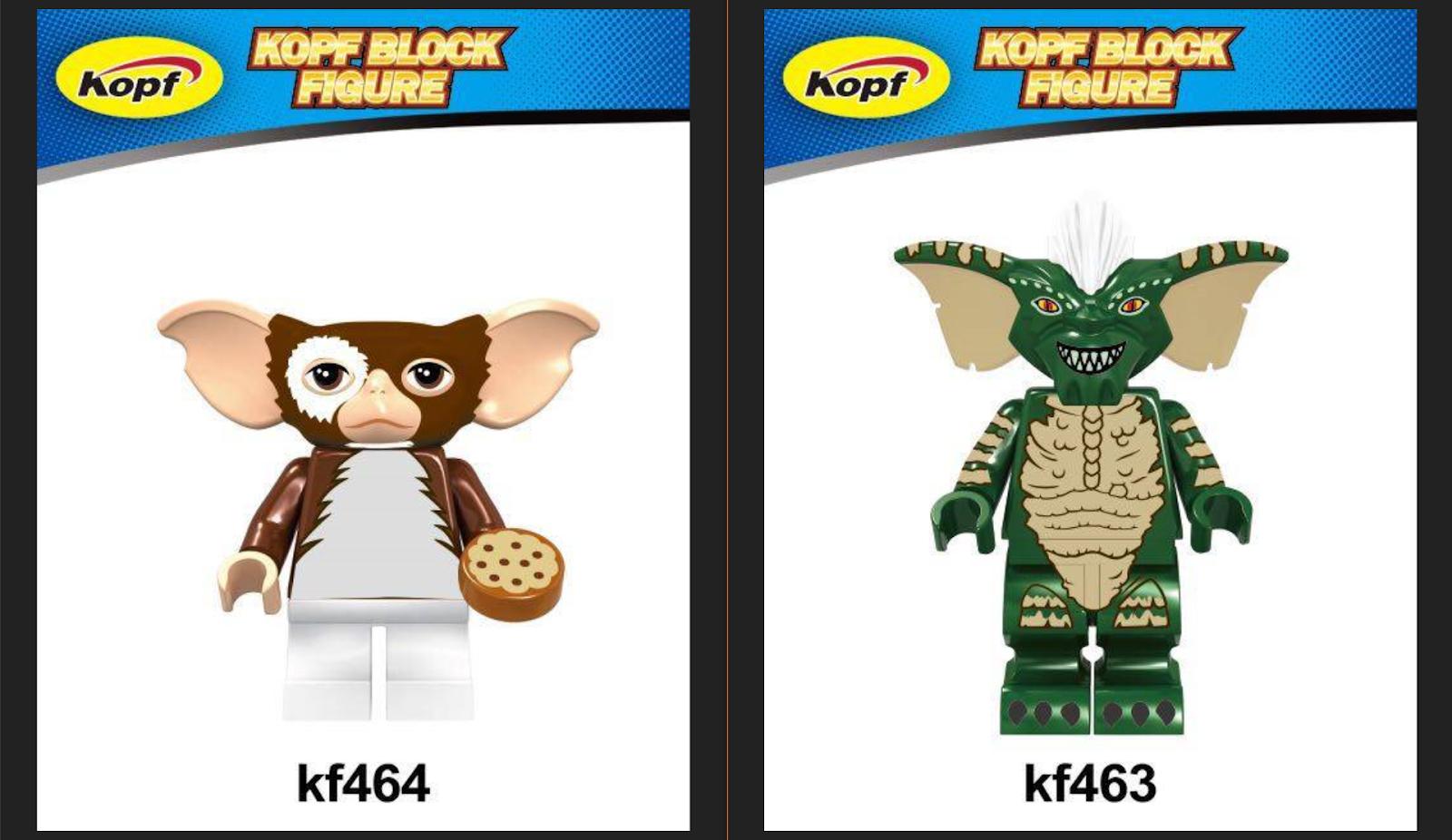 downtheblocks: Kopf KF463, KF464: Gremlins\' Gizmo and Green Gremlin ...