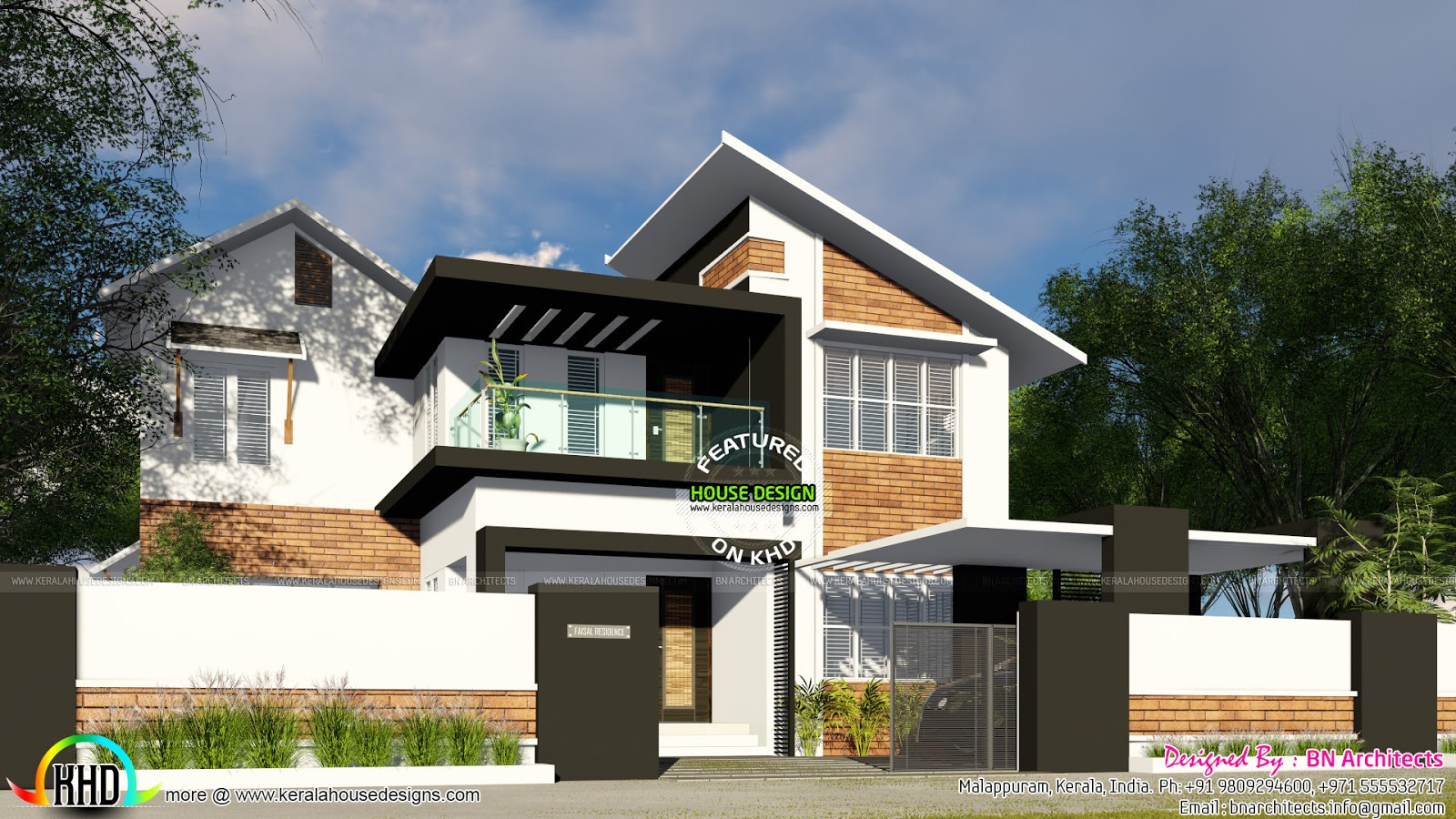 Mix Roof Mix Modern 4 Bedroom Home Kerala Home Design