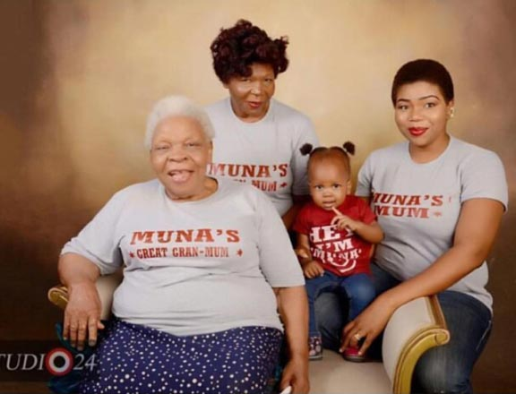 Aww! Check out this adorable photo of four generations