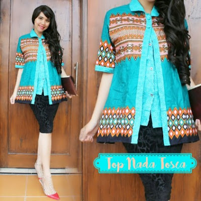 Model baju batik simple elegan