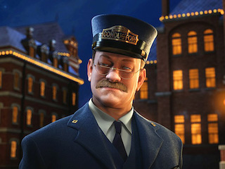 A Fake 3-D Animated Tom Hanks from The Polar Express