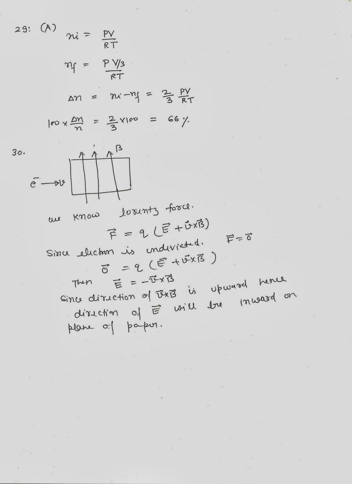 SOLUTIONS TO I E IRODOV BY RKH: KVPY 2013 PHYSICS PAPER SA