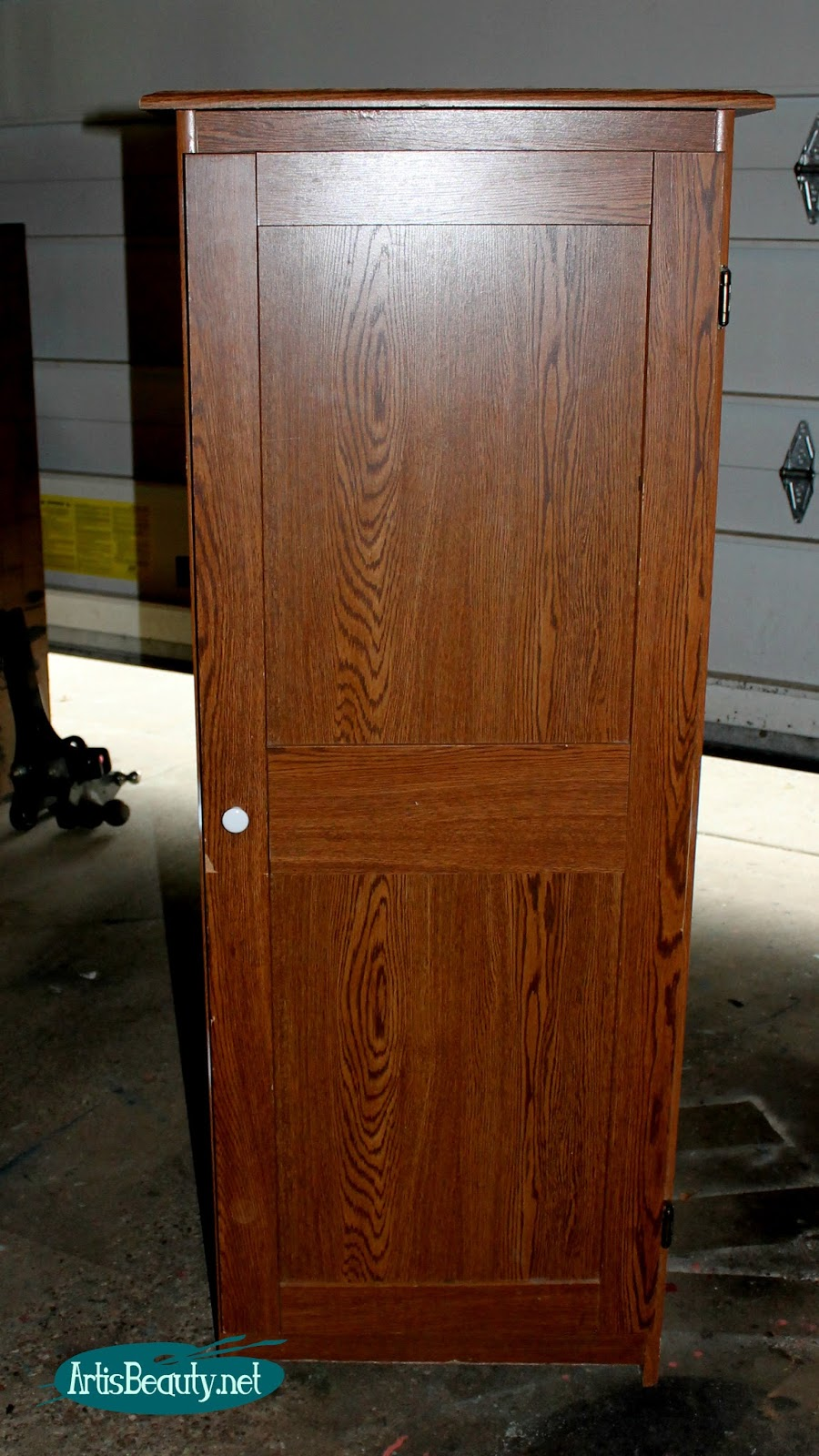 Art Is Beauty Beat Up Sauder Cabinet Turned Vintage Pantry