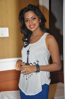 Amala Paul in White Tank Top