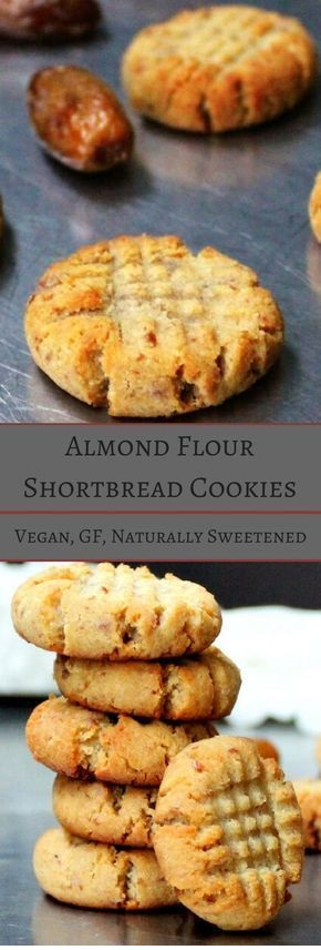 Vegan Almond Flour Shortbread Cookies