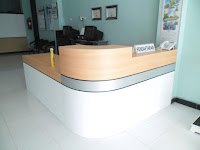 Meja CS & Background - Furniture Kantor Semarang