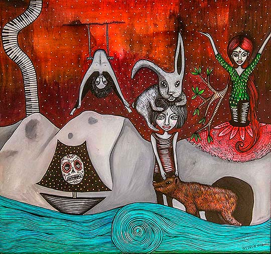Pintura de Isidora Edurne Celis Urrizola aka Tierra de Isis