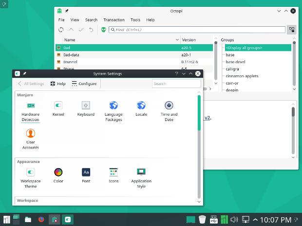 Manjaro 16.10 Fringilla KDE