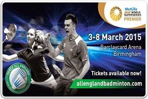 Jadwal Hasil YONEX All England Open 2015