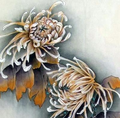 Хризантема китайская живопись